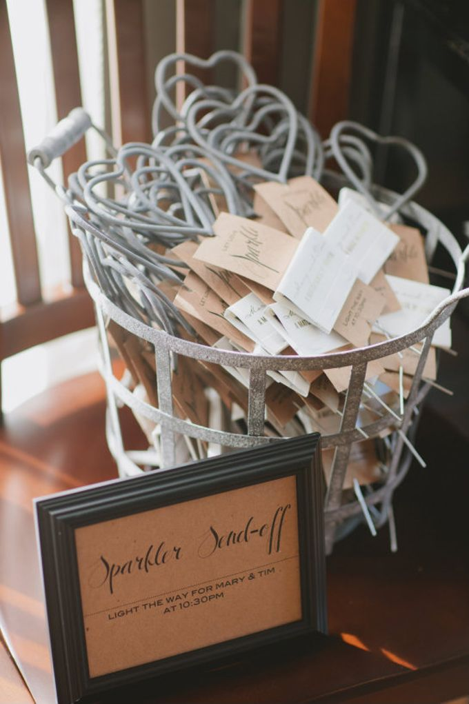 sparker wedding favors for rustic and barn wedding