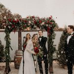30+ Chic Yet Festive Christmas Wedding Ideas in Classic Red