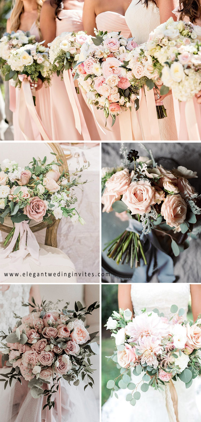 bush pink wedding bouquets for spring and summer