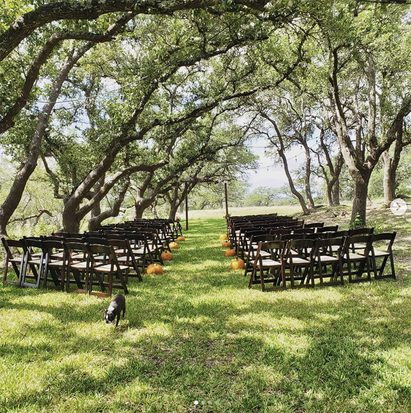 intimate small outdoor ranch wedding at Bell Springs