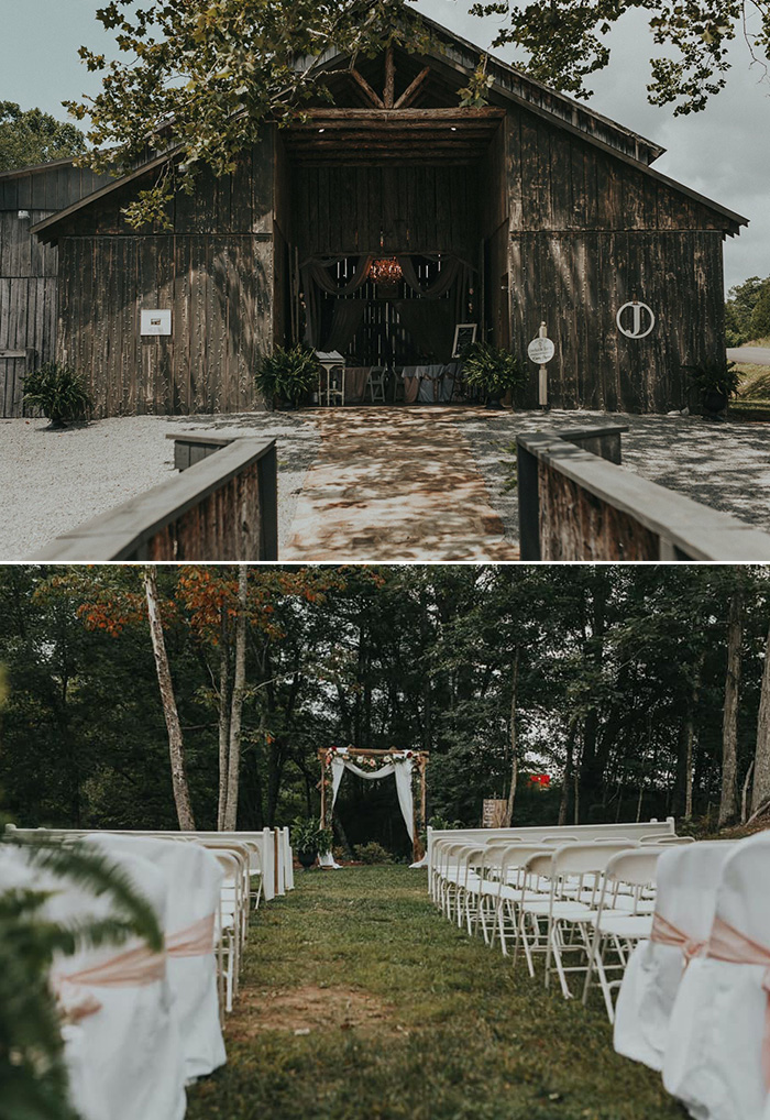 rustic Creek Barn venue for a affordable small intimate wedding
