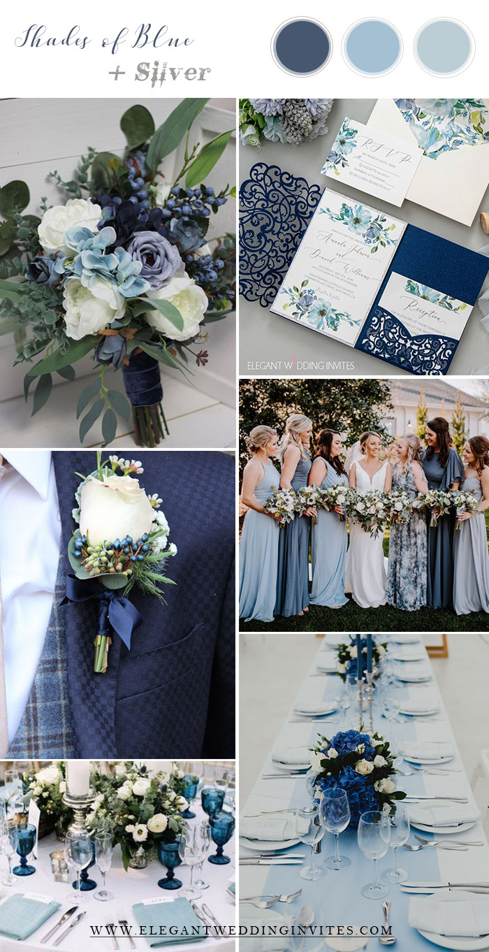 something blue and grey spring and summer wedding colors