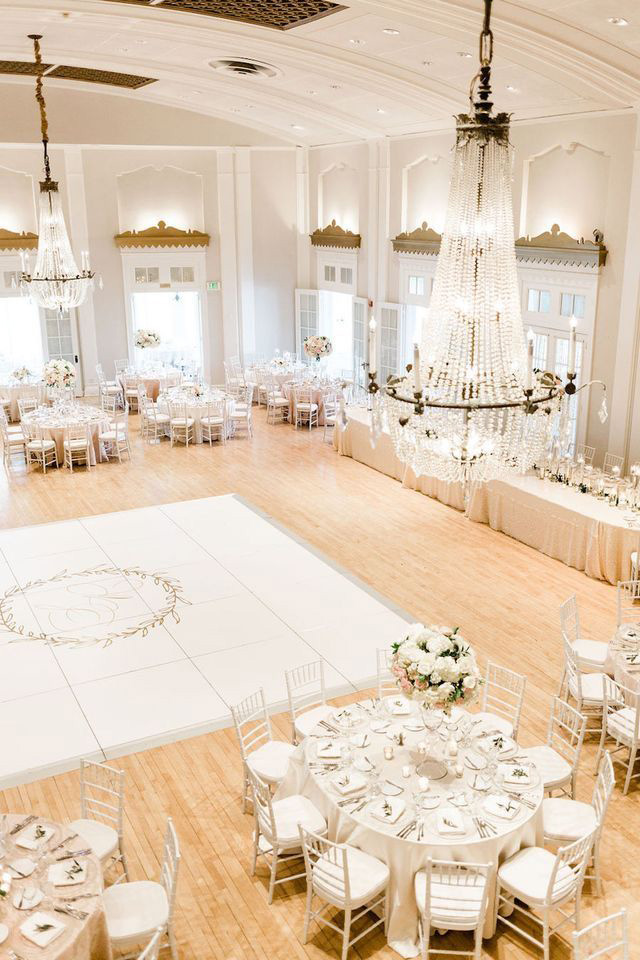 glamour banquet hall wedding dance floor