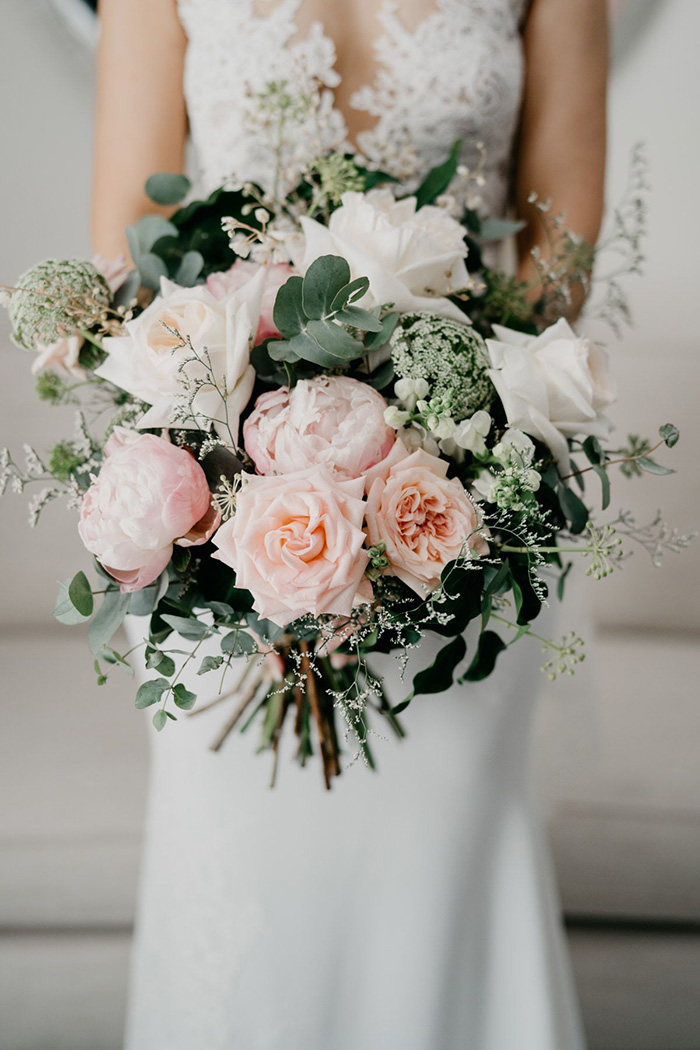 pink rose spring and summer wedding bouquets