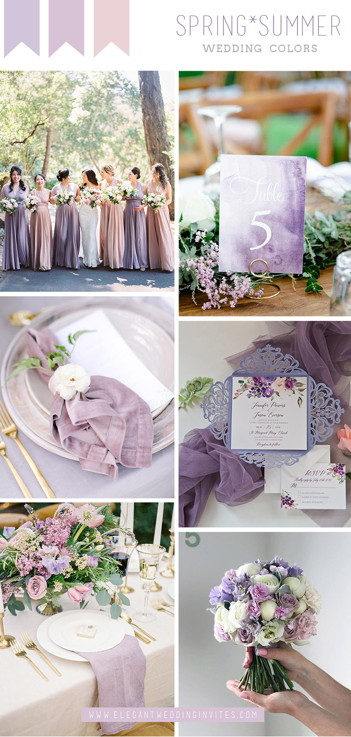 stunning shades of lilac and lavender summer wedding colors