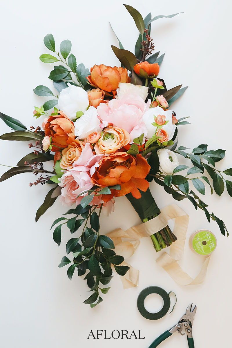 vibrant artificial summer wedding bouquets