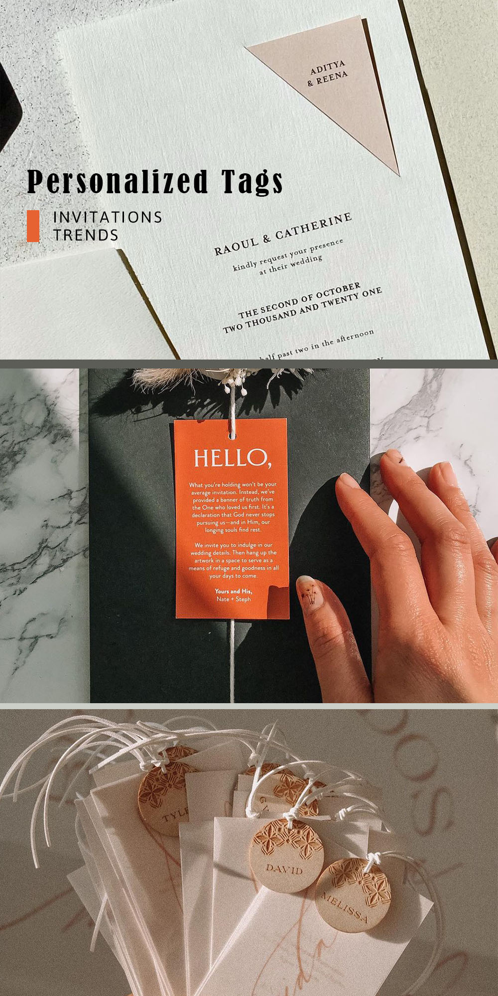 wedding invitation card with personalized tagsjpg