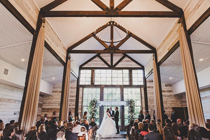 Intimate Big Sky Barn chapel wedding