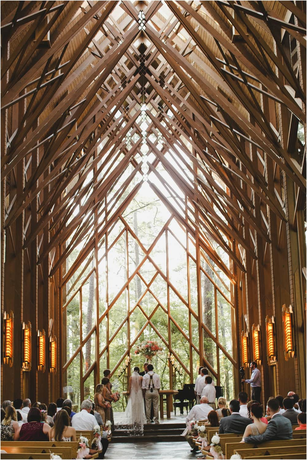 Intimate anthony chapel wedding in woods