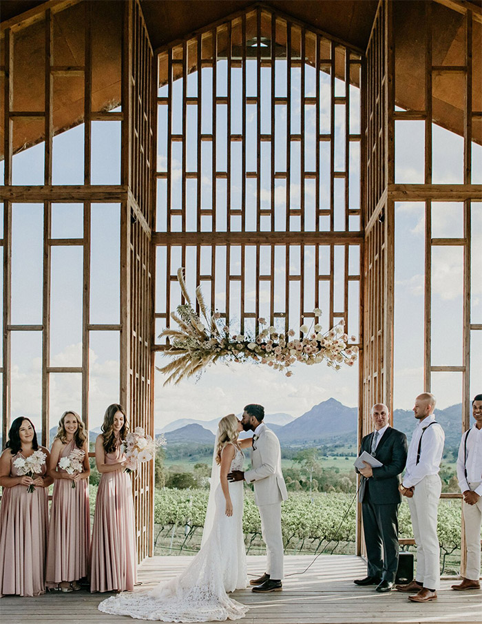 a relaxing open air chapel wedding ceremony