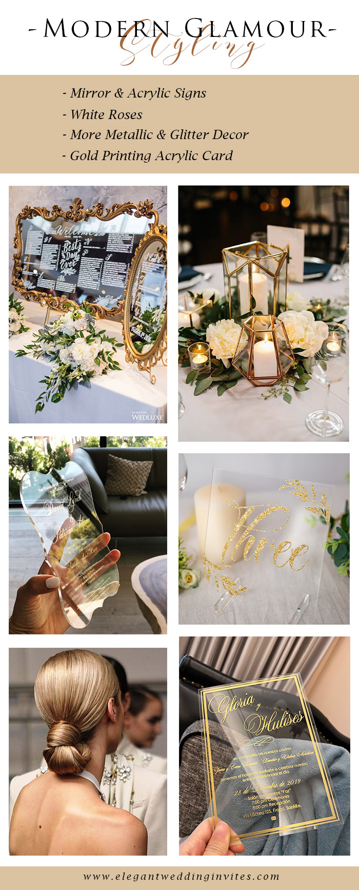 affordable modern glamour indoor wedding theme for banquet hall venue