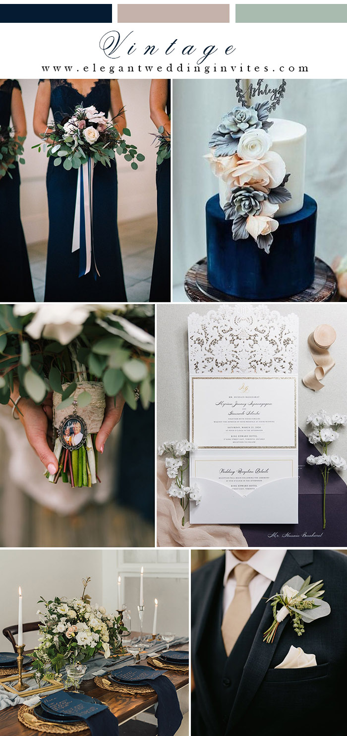 classic blue and blush wedding colors with gold accentsjpg
