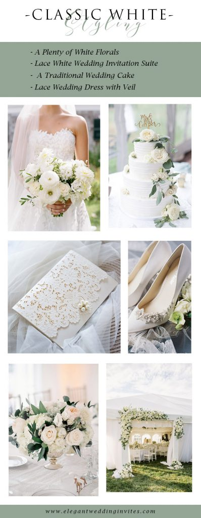 classic white wedding theme perfect for all weding venues