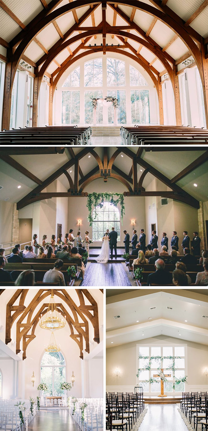 famous glass enclosed indoor wedding chapels