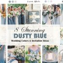 8 Stunning Dusty Blue Wedding Colors with Matching Invitation Ideas