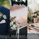 What are the Popular Wedding Themes for a Navy and Blush Color Combo?