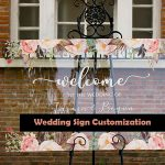 Acrylic Wedding Sign Customization Real Examples-1: Change the Overall Design