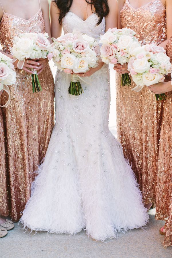 beautiful rose gold vridesmaid dresses for a simply glamorous wedding