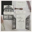 elegant classic black and white wedding invites