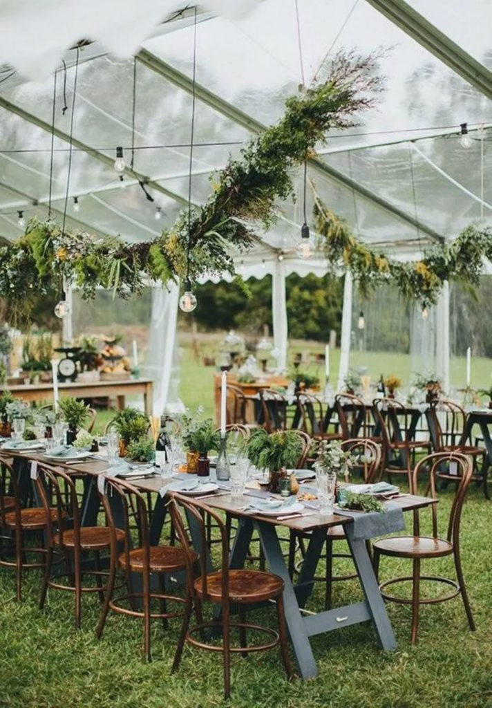 gorgeous ways to decorate your wedding tent ceiling