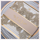 luxury glitter gold wedding invitation with belly band