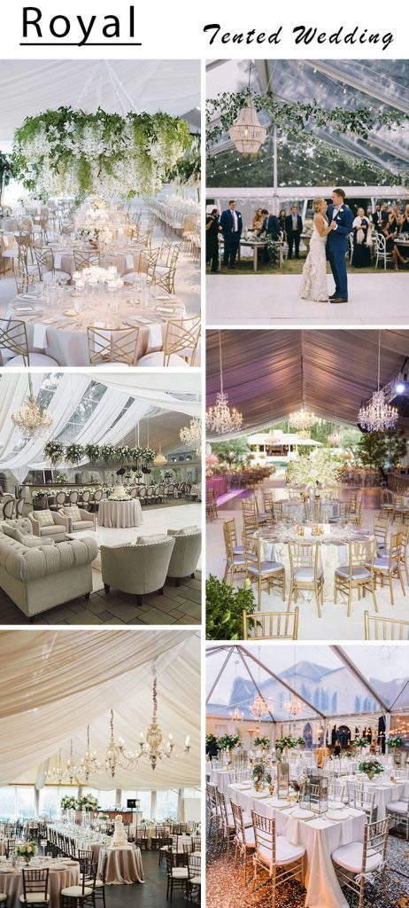 royal and luxury look tented wedding ideas