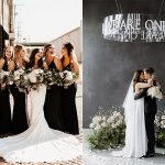 Let's Rock a Cool Modern Classic Black and White Wedding