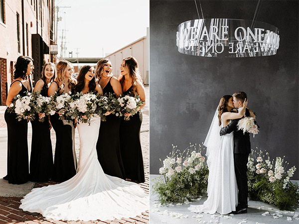elegant modern classic black and white wedding colors