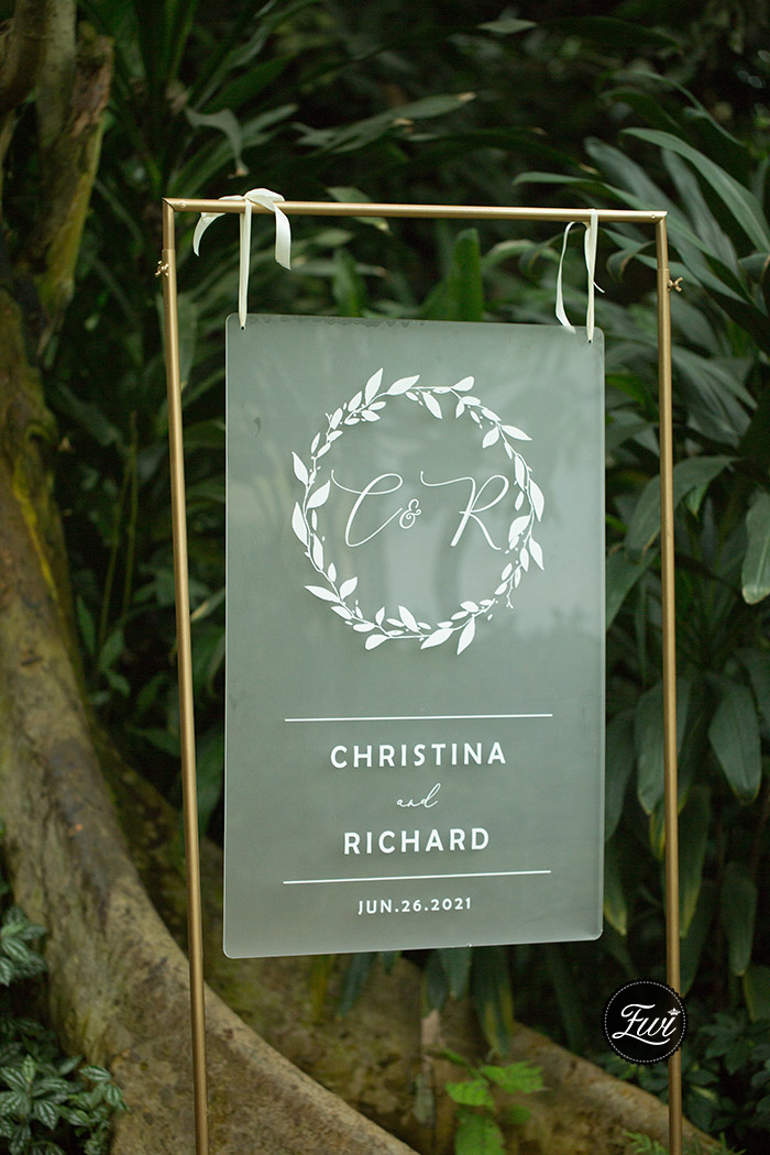 frosted acrylic white printing wedding welcome signs
