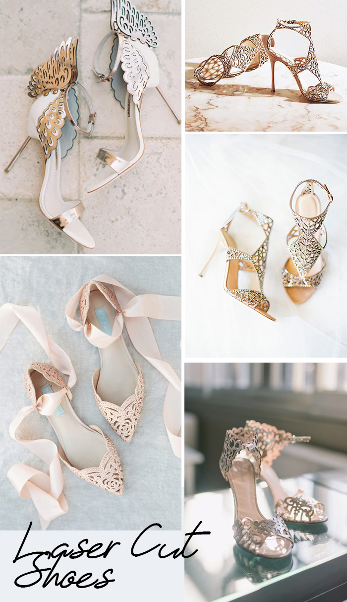 the trendiest and coolest laser cut wedding shoes