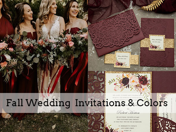 trending fall wedding colors and invitations