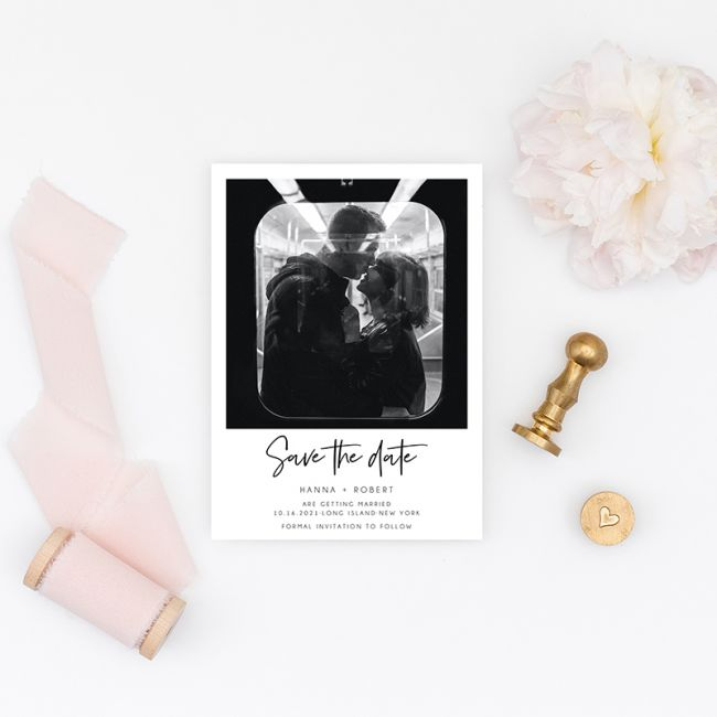 affordable modern save the date cards with photo ewstd072