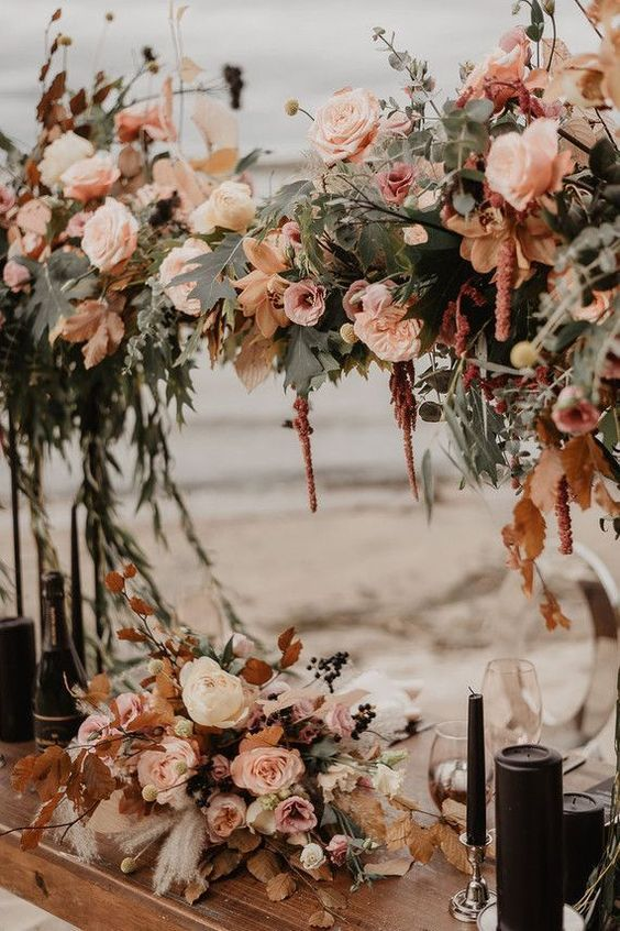 amazing boho flower bouquets fall wedding at home