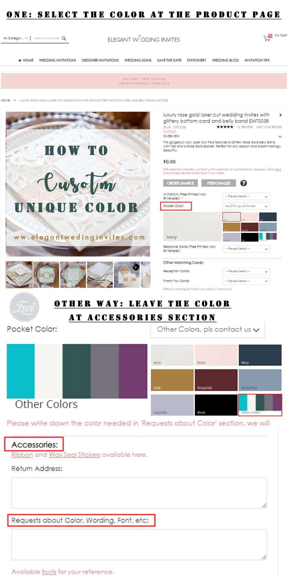 how to customize colorful laser cut wedding invitations