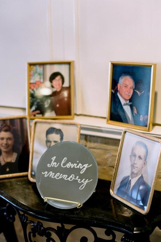 in loving memory photo display ideas for wedding ideas