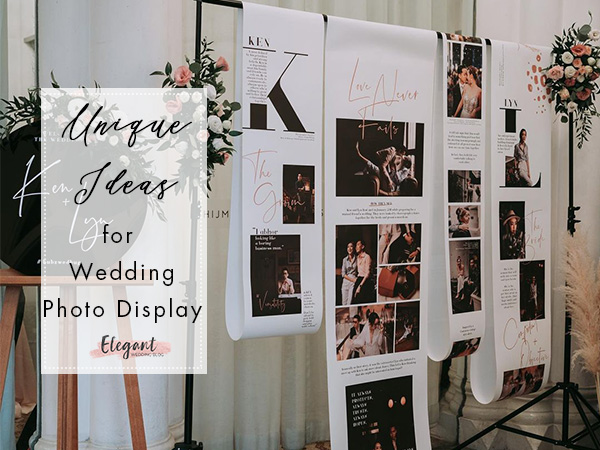 unique photo display ideas for wedding day