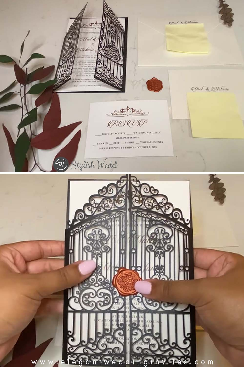 Influencer's Video Where to Buy Your Own Wedding Invitations online for fall wedding ideas