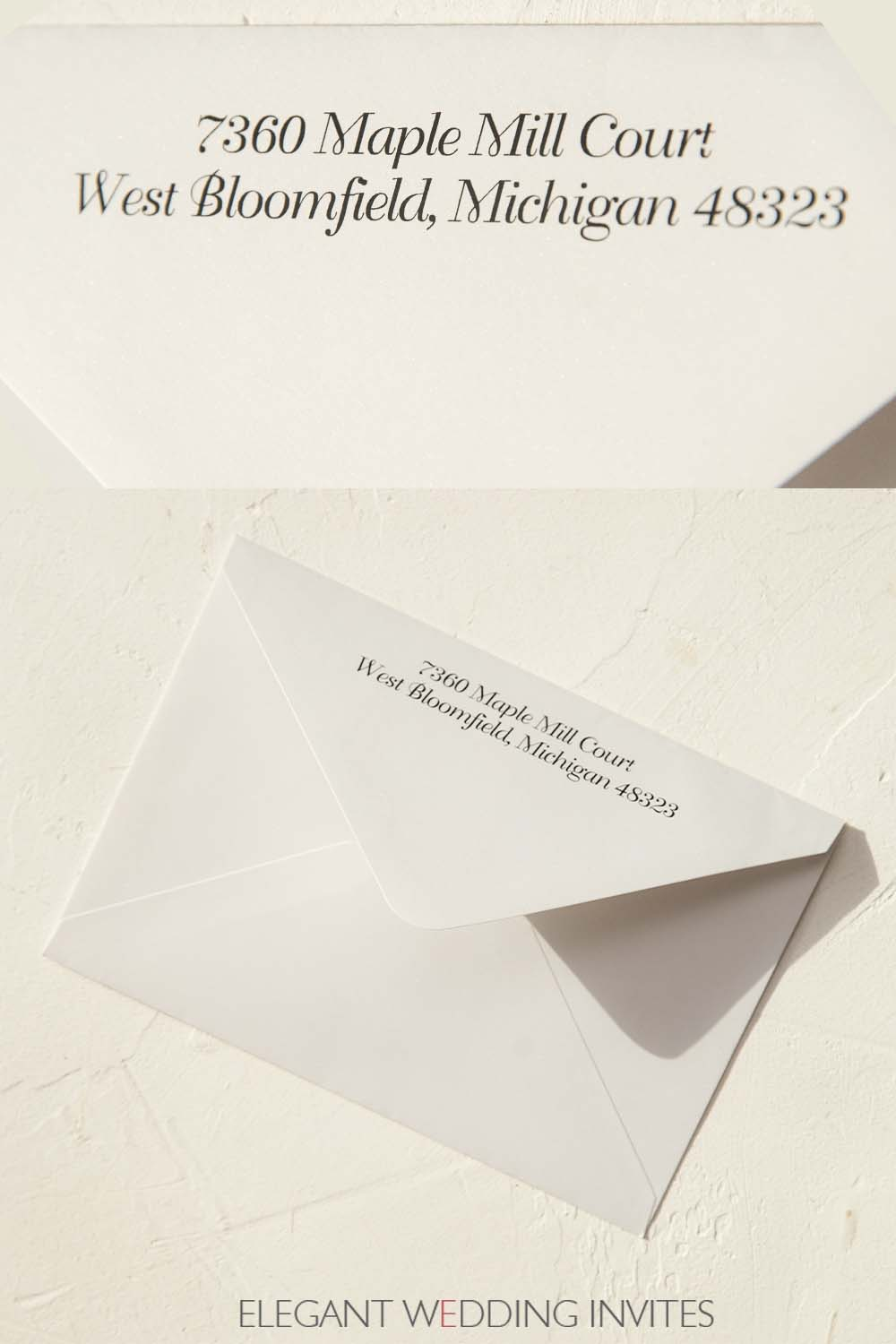 classic ivory envelopes for invitations