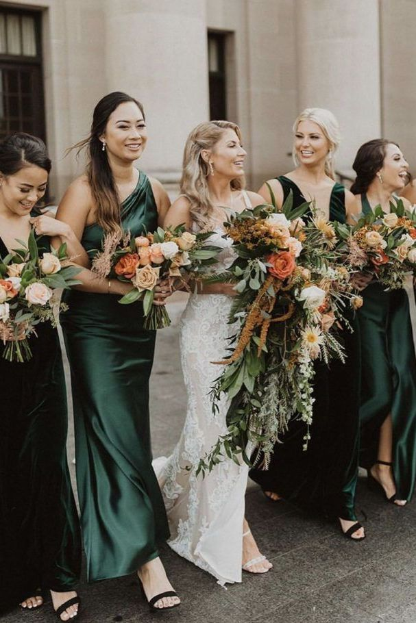 get inspired by emerald green wedding colors for fall and winter 1