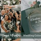 8 Fabulous Wedding Colors with glitter accents for Fall & Winter Brides