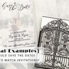 {Real-Examples} Should Save the Dates Need to Match Invitations?