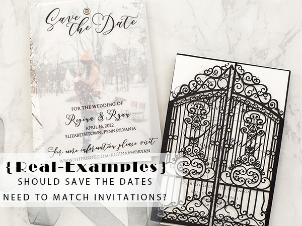 Real Examples Should Save the Dates Need to Match Invitations 1