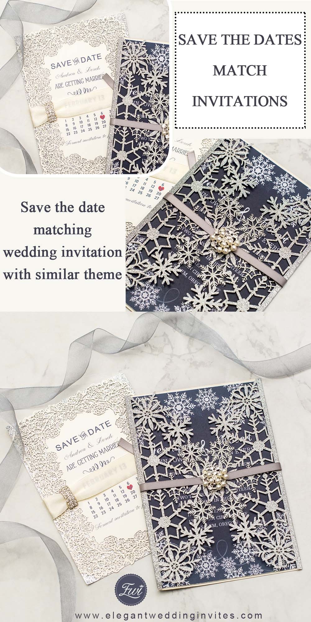 a perfect match of save the date cards and wedding invitations