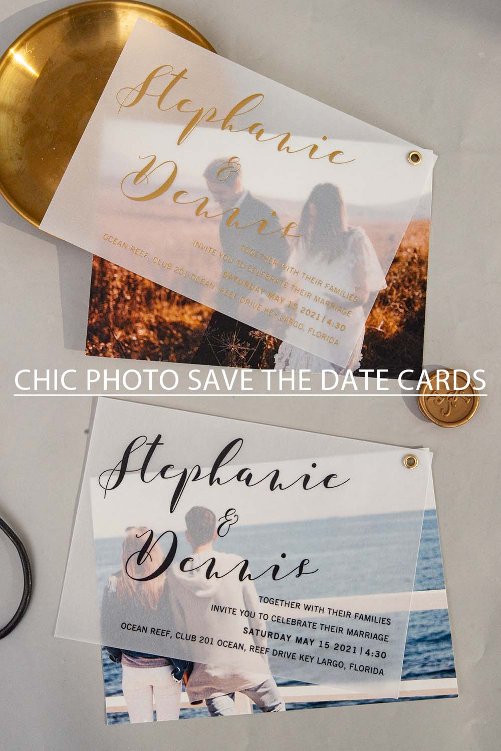 popular chic phot save the date cards for your big day