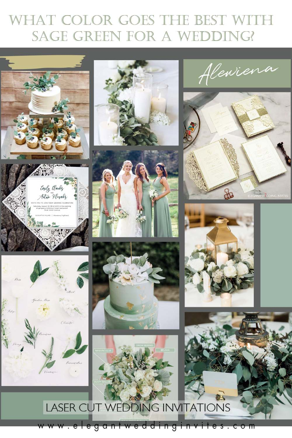 sage green is perfect choice for stylish modern celebration.