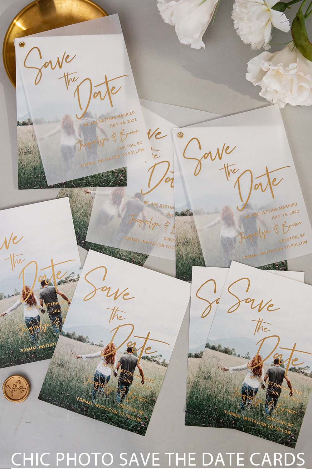unique save the date cards with your sweet photo