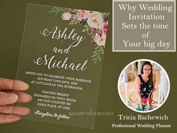 Professional Vlog Wedding Planner Tricia how do weding invitations set the tone for your wedding day