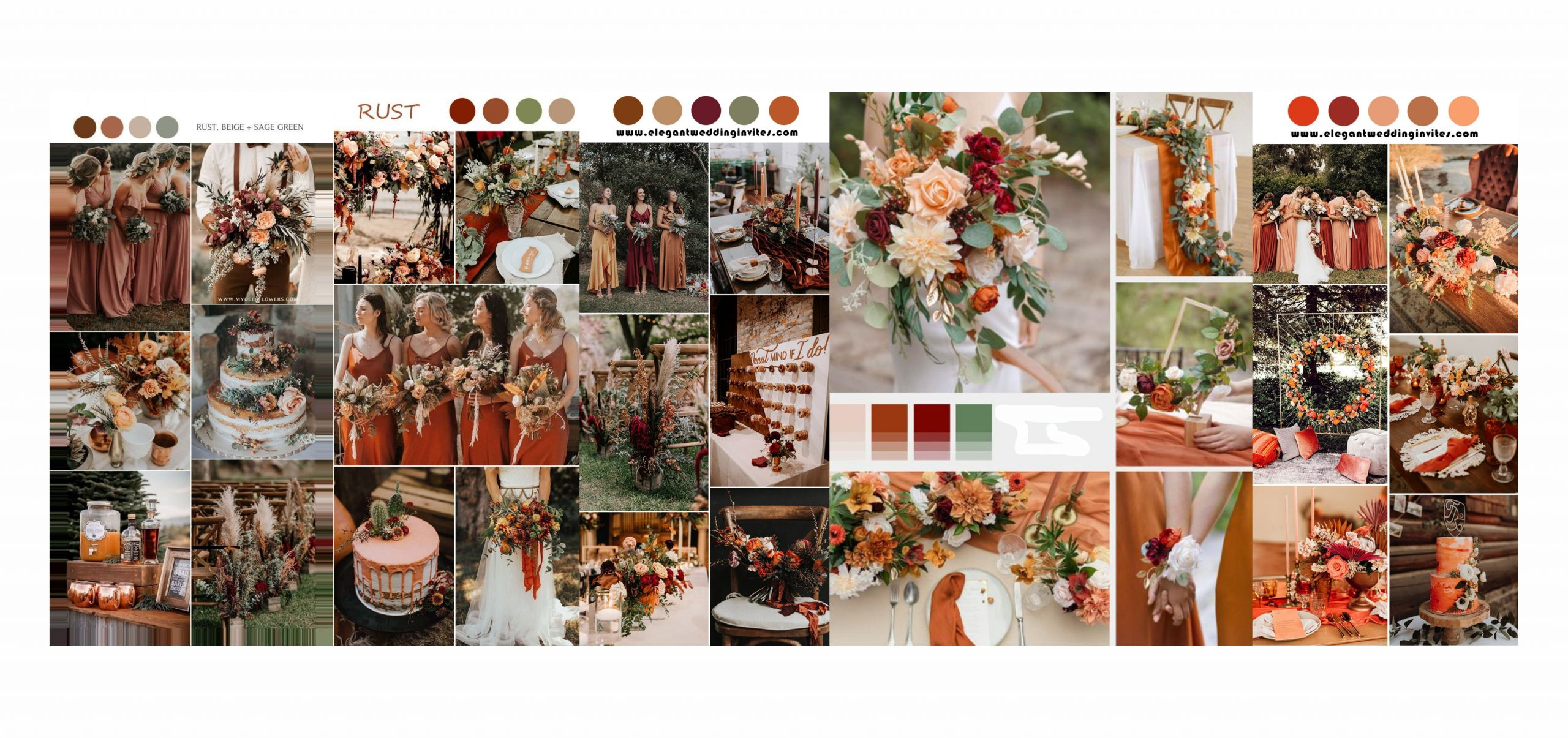 TIP for fall winter rust wedding color palette