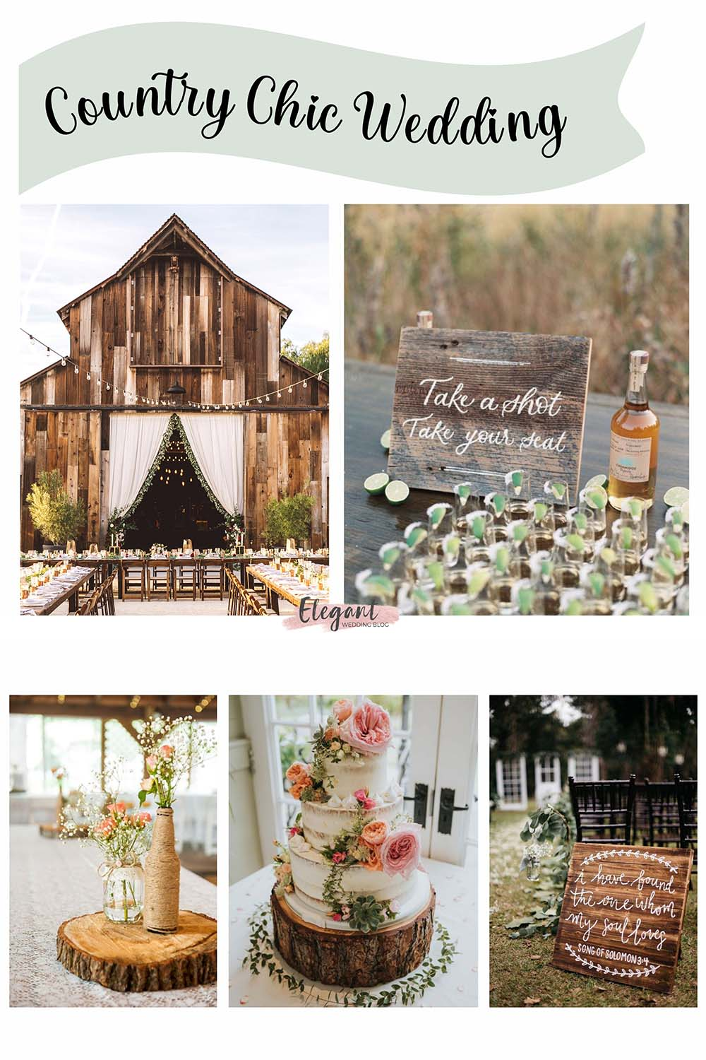 chic rustic country themed wedding ideas for wedding in any season