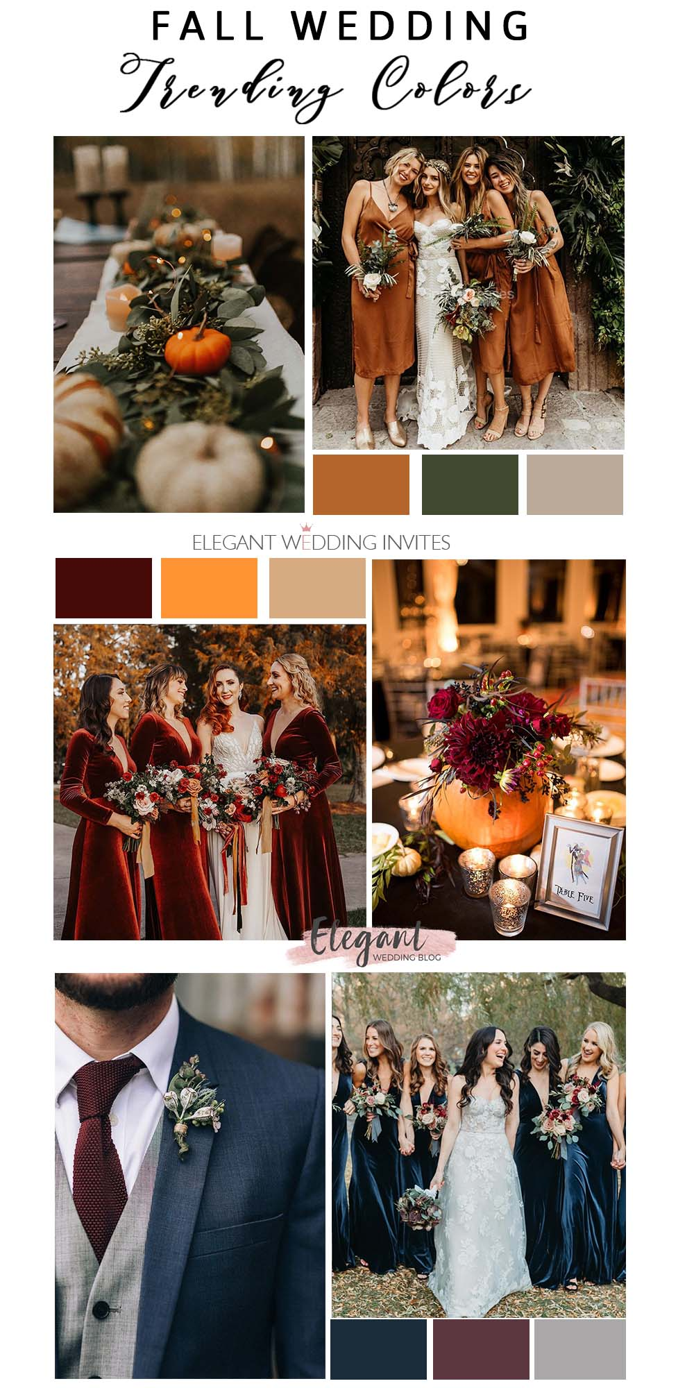 fall wedding trending color for wedding suit ideas